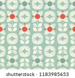 seamless retro pattern with... | Shutterstock .eps vector #1183985653