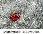 new year's red ball on a... | Shutterstock . vector #1183993906