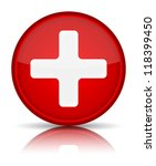 first aid medical button sign... | Shutterstock .eps vector #118399450