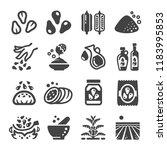 sesame icon set   Shutterstock .eps vector #1183995853