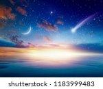 amazing heavenly background  ... | Shutterstock . vector #1183999483