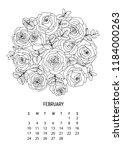 flower bouquet   coloring...   Shutterstock .eps vector #1184000263