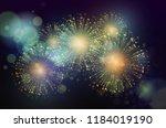 vector holiday fireworks... | Shutterstock .eps vector #1184019190