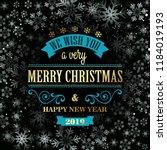 typographic retro christmas... | Shutterstock .eps vector #1184019193