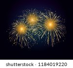 vector holiday fireworks... | Shutterstock .eps vector #1184019220