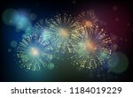 vector holiday fireworks... | Shutterstock .eps vector #1184019229