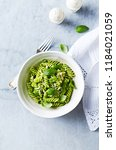 home made fusilli pasta with...   Shutterstock . vector #1184021059