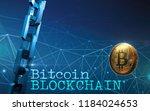 golden bitcoin digital currency ... | Shutterstock . vector #1184024653
