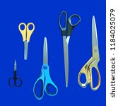 a set of scissors of different... | Shutterstock .eps vector #1184025079
