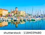 marina in saint raphael... | Shutterstock . vector #1184039680