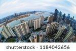 shanghai city skyline  sunrise... | Shutterstock . vector #1184042656