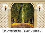 3d wallpaper design with...   Shutterstock . vector #1184048560
