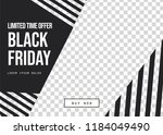 black friday sale banner with... | Shutterstock .eps vector #1184049490