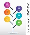 vertical timeline infographics. ... | Shutterstock .eps vector #1184053366