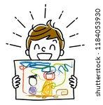 illustration material  boy... | Shutterstock .eps vector #1184053930