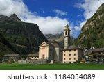 sonogno   switzerland ... | Shutterstock . vector #1184054089
