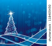 abstract christmas background | Shutterstock .eps vector #118405450