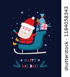 creative hand drawn card with... | Shutterstock .eps vector #1184058343