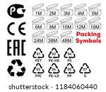 package symbols set. expiration ... | Shutterstock .eps vector #1184060440