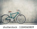 retro bicycle with aged brown...   Shutterstock . vector #1184060809