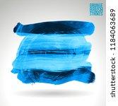 blue brush stroke and texture.... | Shutterstock .eps vector #1184063689