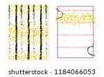 gold glitter sequins with dots. ... | Shutterstock .eps vector #1184066053