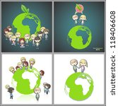 collection of kids around the... | Shutterstock .eps vector #118406608