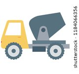 concrete buggy isolated vector ...   Shutterstock .eps vector #1184066356
