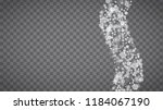isolated snowflakes on... | Shutterstock .eps vector #1184067190