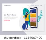 online travelling illustration... | Shutterstock .eps vector #1184067400
