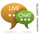 live chat speech balloons icon...   Shutterstock .eps vector #118407736