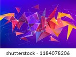 vector astract 3d geometric... | Shutterstock .eps vector #1184078206