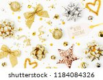 christmas decorations  bows ... | Shutterstock . vector #1184084326
