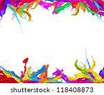 colored splashes background...   Shutterstock . vector #118408873