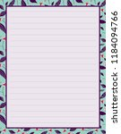 vector printing paper note ... | Shutterstock .eps vector #1184094766