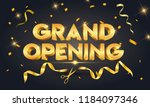 grand opening golden text with... | Shutterstock .eps vector #1184097346