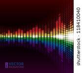 rainbow warped digital... | Shutterstock .eps vector #118410040