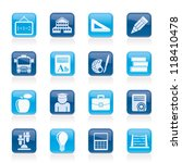 school and education icons  ... | Shutterstock .eps vector #118410478