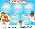 school timetable schedule with... | Shutterstock .eps vector #1184105983