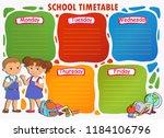 school timetable schedule with... | Shutterstock .eps vector #1184106796