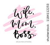 wife mom boss. isolated vector... | Shutterstock .eps vector #1184112253