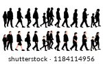 set of black silhouettes of... | Shutterstock .eps vector #1184114956