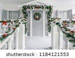 christmas morning. house... | Shutterstock . vector #1184121553