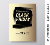 black friday sale abstract...   Shutterstock .eps vector #1184121616