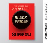 black friday sale abstract...   Shutterstock .eps vector #1184121619