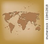 old world map vector... | Shutterstock .eps vector #118412818