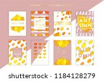 trendy and elegant autumn cards ... | Shutterstock .eps vector #1184128279