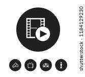 set of 5 editable cinema icons. ...
