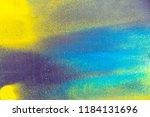 colorful spray paint splatters...   Shutterstock . vector #1184131696