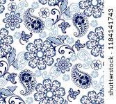 oriental seamless paisley... | Shutterstock .eps vector #1184141743